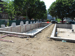 Concrete Piers - Retaining Walls - Freeze Walls